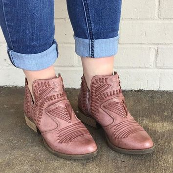 Nosara Ankle Boot In Rose By Not Rated