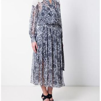 ZIMMERMANN | Empire Filigree Robe Dress | brownsfashion.com | The Finest Edit of Luxury Fashion | Clothes, Shoes, Bags and Accessories for Men & Women