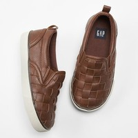 Woven Slip On Sneakers