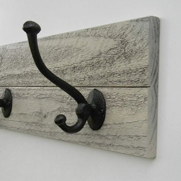 "Coat Hat Rack Rustic Western Country Cottage Chic Gray 23"" Wide"