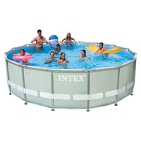 "16'x48"" Ultra Frame Pool Set Includes Filter Pump, Ground Cloth, Ladder, Pool Cover, Instructional DVD"
