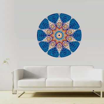 Full Color Full Color Wall Decal Mural Sticker Bedroom Living Room Poster Decor Art Flower Sun Fire Om Namaste Mandala Ornament (Col743)
