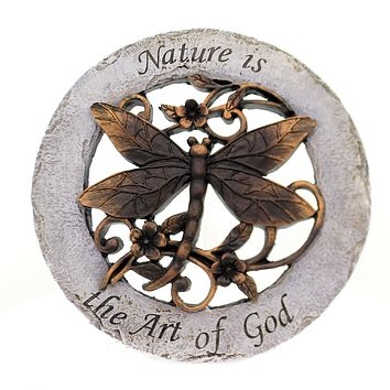 Home & Garden DRAGONFLY STEPPING STONE Polyresin Nature Art Of God 10204.