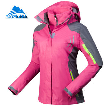 Cikrilan Hiking Camping Ski Chaquetas Mujer Outdoor Sport Windstopper Winter Jacket Women Warm With Coat Detachable Fleece Inner