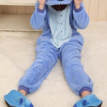 VILAVI Stitch Costume Pajamas Costume Kigurumi Pajamas Sleepwear XL