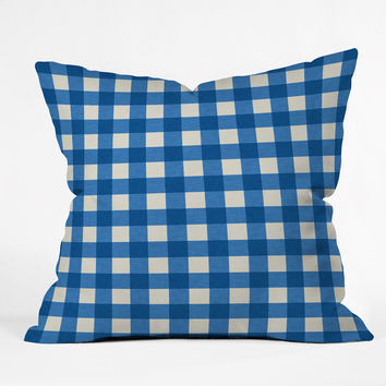 Holli Zollinger Gingham Outdoor Throw Pillow