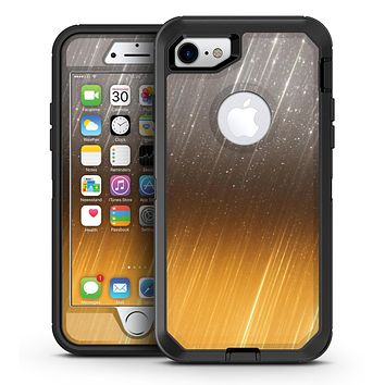 Scratched Gold and Silver Surface - iPhone 7 or 7 Plus OtterBox Defender Case Skin Decal Kit