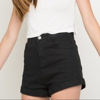 Brandy Melville Black High Waisted Shorts - Reina