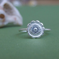 Flower Ring, 925 Sterling Silver Ring