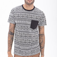 Tribal Printed Pocket Tee