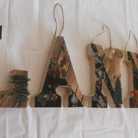 Rustic Woods Nursery Letters/ Mossy Oak/ by 4TheLoveOfHannah
