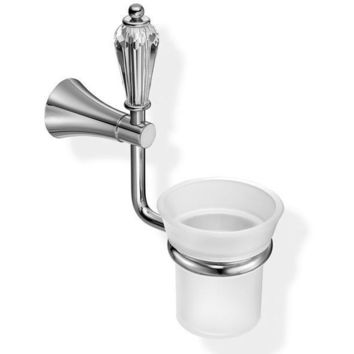 SCBA Dolce Wall Frosted Glass Swarovski Toothbrush Toothpaste Holder Tumbler