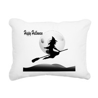 HAPPY HALLOWEEN WITCH RECTANGULAR CANVAS PILLOW