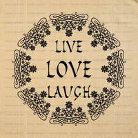 Live Laugh Love, Wall Art, Wall Quote, Inspirational Quote b032