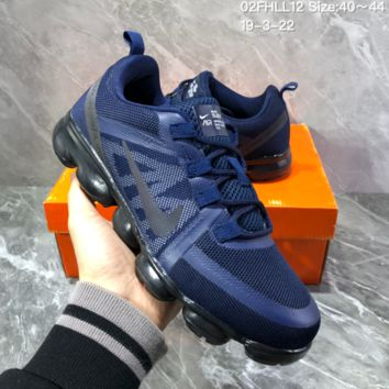 DCCK2 N1118 Nike Wmns Air Vapormax 2019 Fashion Mesh Air Cushion Running Shoes Dark Blue