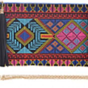 Abstract Aztec Clutch