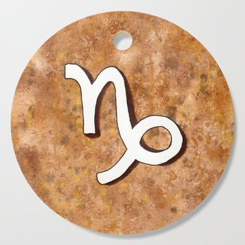 Zodiac sign : Capricorn Cutting Board by savousepate