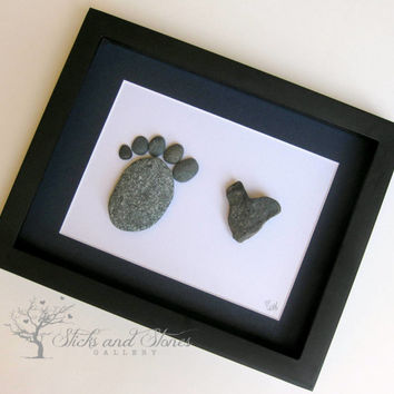 Unique Baby Gift -Baby -Modern New Baby Gift-Personalized New Baby Gifts- Baby Shower Gift -SticksnStone Designs - Modern Nursery Pebble Art