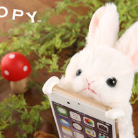 Strapya World : Simasima ZOOPY Cover for iPhone iPhone 6s / 6 (Rabbit / White)