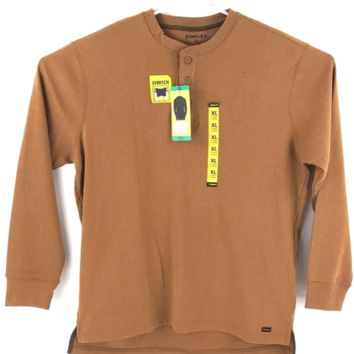 NEW! Men's Stanley Classic-Fit Waffle-Weave Thermal Henley, VARIETY