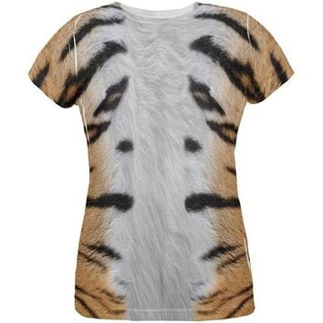 LMFCY8 Halloween Tiger Costume All Over Womens T Shirt
