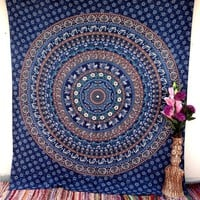 Camel Elephant Mandala Tapestries Wall Hanging Indian Hippie Tapestry Bohemian Wall Tapestries for Dorms College Decor Bedding - Beach Blanket Picnic Sheet