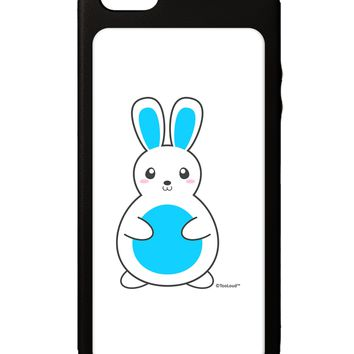 Cute Easter Bunny - Blue iPhone 5C Grip Case  by TooLoud