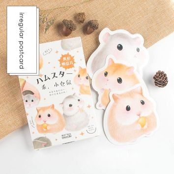 30 pcs/pack Cute Little Hamster bookmarks Postcard Birthday Letter Envelope Gift Card Set Message Card