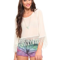 Angelic Crochet Blouse - What's New | GYPSY WARRIOR