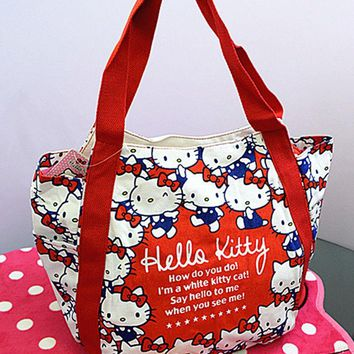 New Hello kitty Canvas Shopping Shoulder Handbag Bag Tote HandBag yey-2201-3