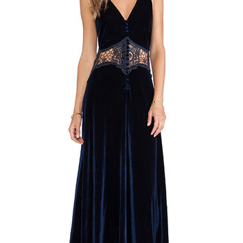 JARLO Siobhan Maxi Dress in Navy