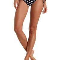 Black Combo Reversible String Bikini Bottoms by Charlotte Russe