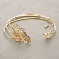 Anthropologie Gilded Leaf Bangles - West Egg