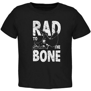 Dinosaur Triceratops Rad to the Bone Toddler T Shirt