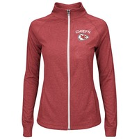Majestic Kansas City Chiefs Count The Wins Full-Zip Fleece - Women's, Size: