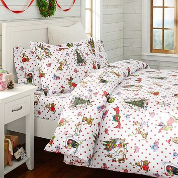 The Grinch™ Flannel Duvet Cover + Sham