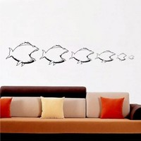 It's a fish eat fish World Vinyl Wall Art by ChuckEByrdWallDecals