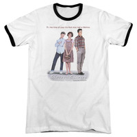 Sixteen Candles Poster White / Black Ringer T-Shirt