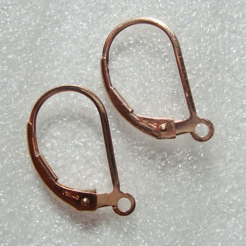 14K Rose Gold Filled Simple Leverbacks Earwires, 18x10mm, 2 pairs, Earrings Findings, quality secure high end closures - EW-0026
