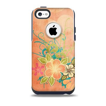 The Vintage Coral Floral Skin for the iPhone 5c OtterBox Commuter Case