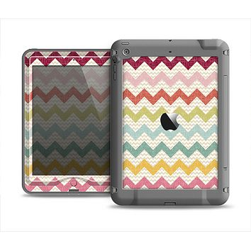 The Vintage Summer Colored Chevron V4 Apple iPad Mini LifeProof Nuud Case Skin Set