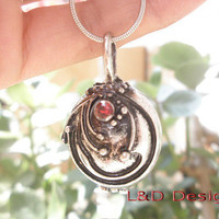 The Vampire Diaries Inspired Openable Vervain Necklace/ Elena Gilbert / Silver