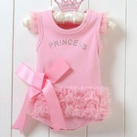 Hot Sales!Nice Baby Girls Kid Bodysuit Princess Ballet Top Suit Dress One-piece 0-24Months = 1958086020