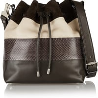 Proenza Schouler - Bucket paneled leather and ayers shoulder bag