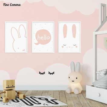 Nordic Style Kids Decoration Girl's Room Pictures Posters and Prints Poster Wall Picture for Living Room Wall Art Canvas Prints 1