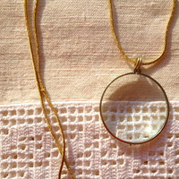 $15.00 Monocle Lens Necklace by PortugueseVintage on Etsy