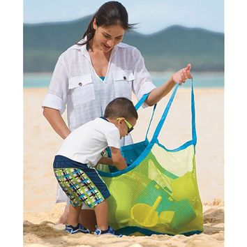 Sand Away Beach Mesh Bag for Beach Toys Clothes Towel Bag