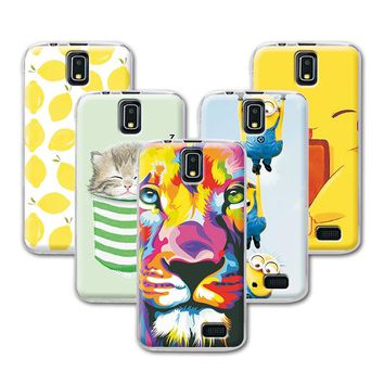"""Fruit Art Print Painting Cat Minions Banana Prefect Case For Lenovo A328 A328T Cover For Lenovo A328 4.5"""" Back Cover+Free Gift"""