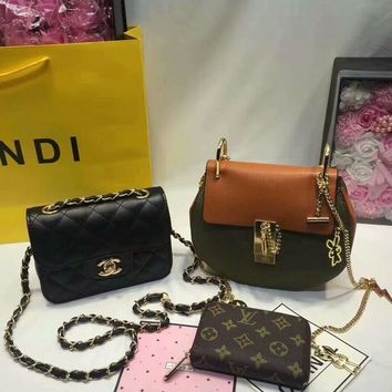 Year-End Promotion 3 Pcs Of Bags Combination (Chloe Bag ,Chanel Little Bag ,LV Wallet)