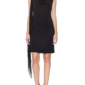 BCBGMAXAZRIA Women's Malory Draped Sash Dress - Black -
